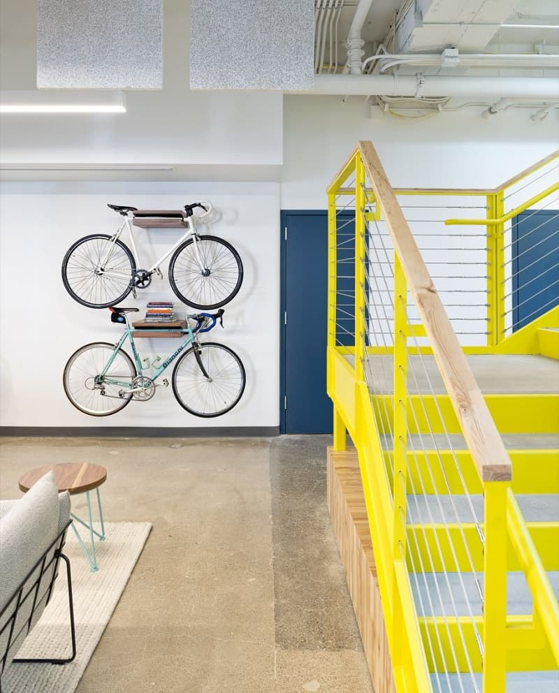 Colorful interior for the employees at Capital One Labs4