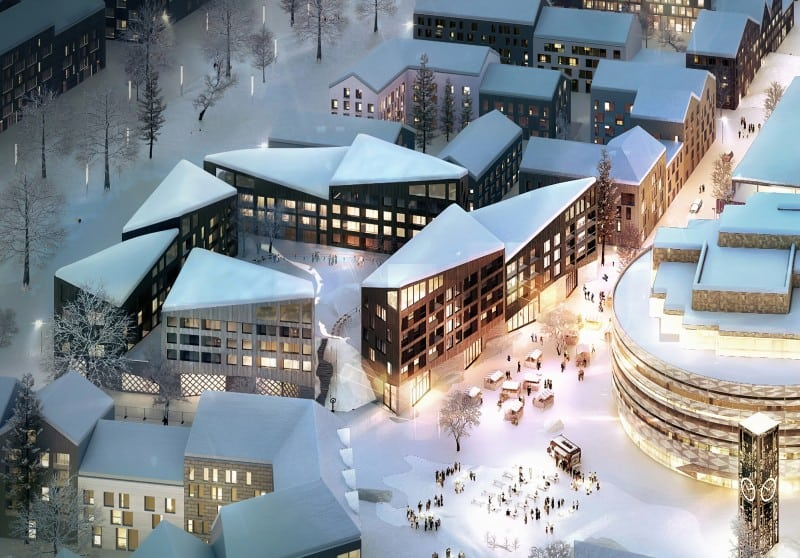 Residential block for the new Kiruna1