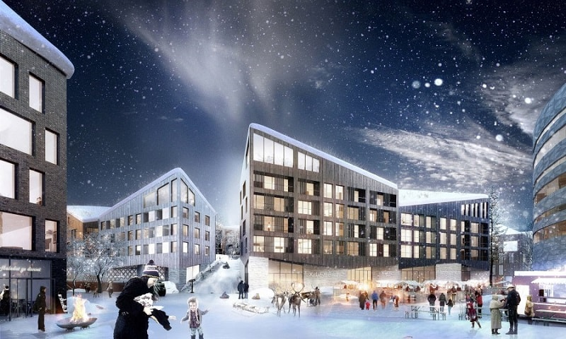 Residential block for the new Kiruna2