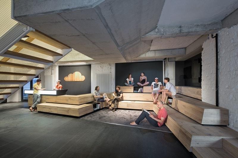 Soundcloud industrial style headquarters in Berlin5