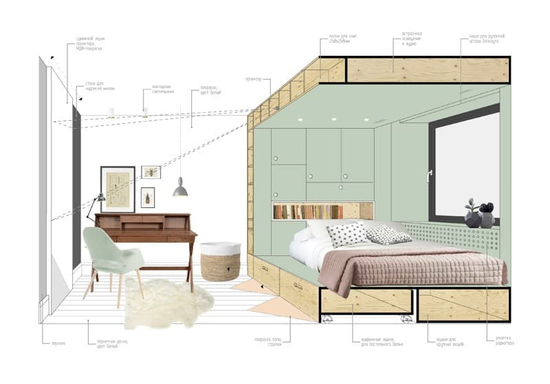 Practical and modern teen room8