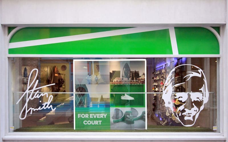 Adidas store decorated like a small tennis court4