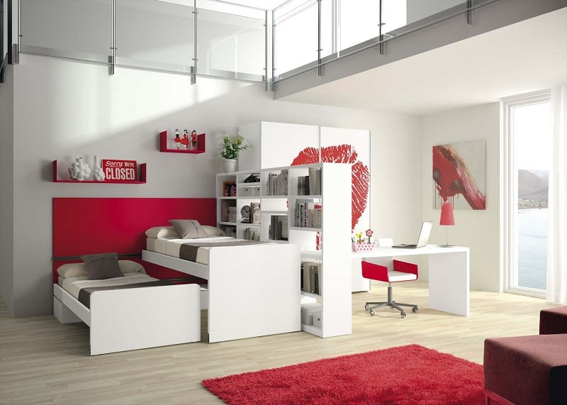 Modern bedrooms for youngsters with practical modular furniture10