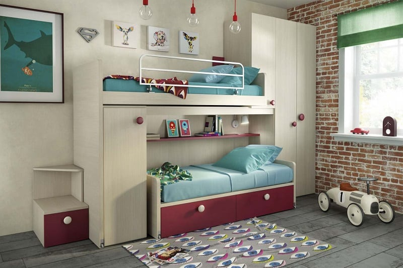 Modern bedrooms for youngsters with practical modular furniture11