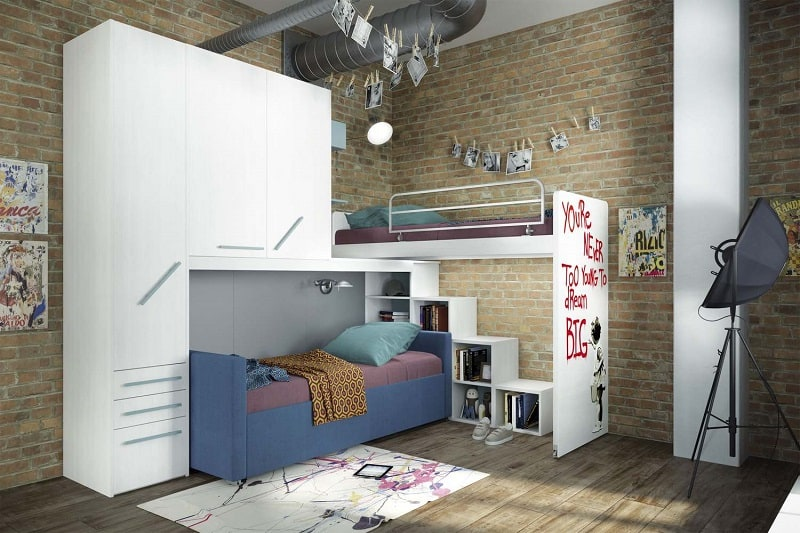 Modern bedrooms for youngsters with practical modular furniture12