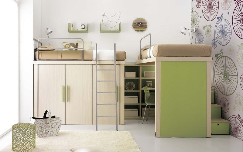 Modern bedrooms for youngsters with practical modular furniture4