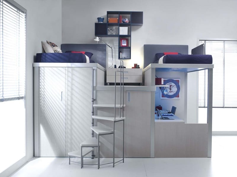 Modern bedrooms for youngsters with practical modular furniture5
