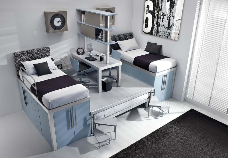 Modern bedrooms for youngsters with practical modular furniture6