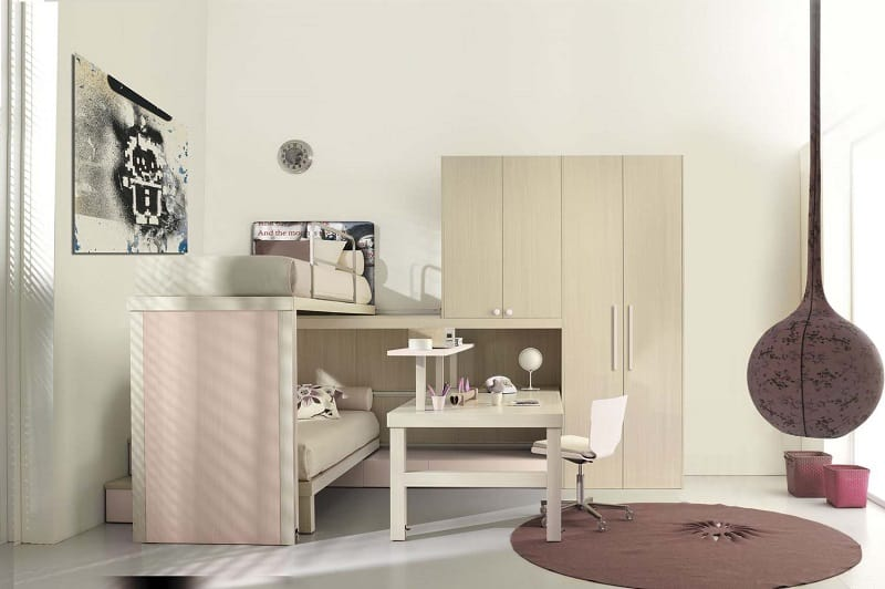 Modern bedrooms for youngsters with practical modular furniture7