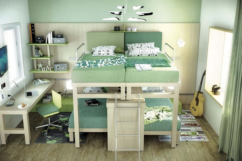 Modern bedrooms for youngsters with practical modular furniture8