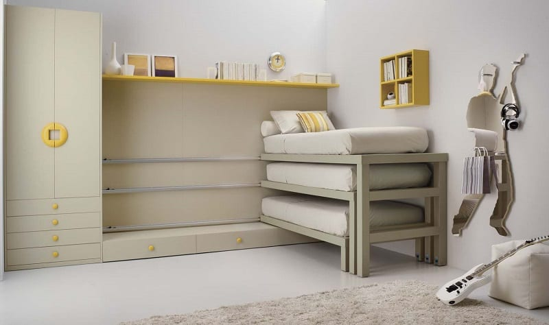 Modern bedrooms for youngsters with practical modular furniture9