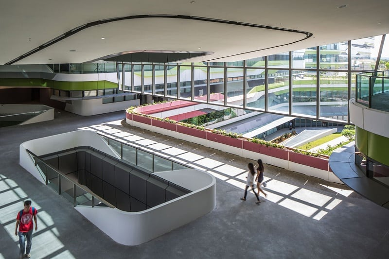 University campus in Singapore with contemporary design5