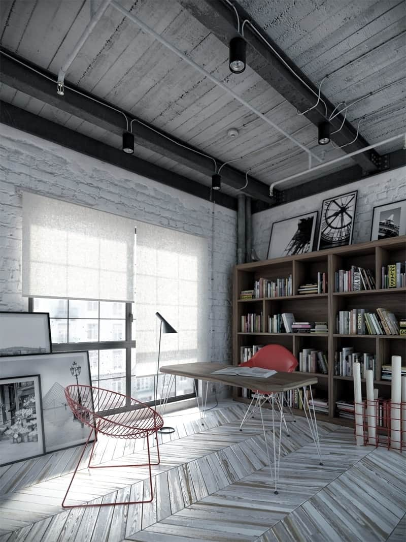 15 ideas for decorating your home workspace13