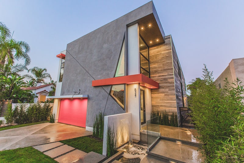 A house with an unconventional façade and sophisticated interior