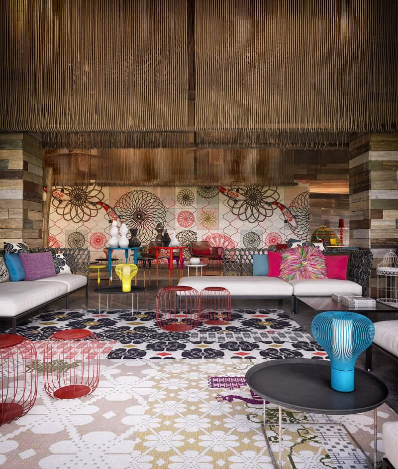 W Retreat & Spa - a kaleidoscope of colors and shapes