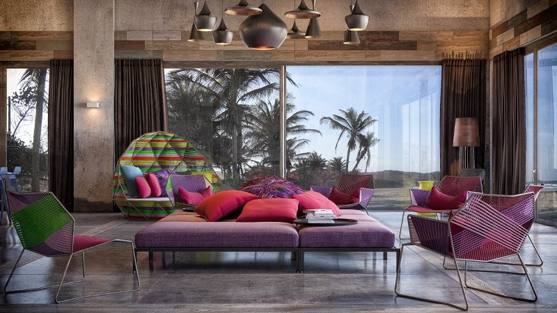 W Retreat & Spa - a kaleidoscope of colors and shapes2