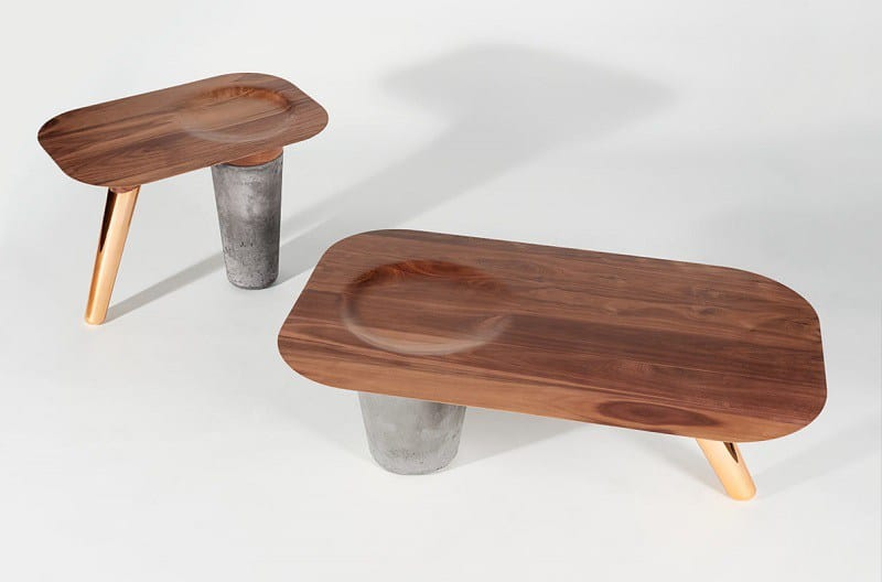 Awesome tables made of wood, concrete and copper3