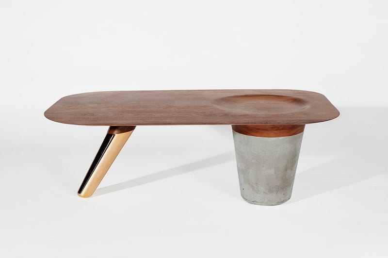 Awesome tables made of wood, concrete and copper5