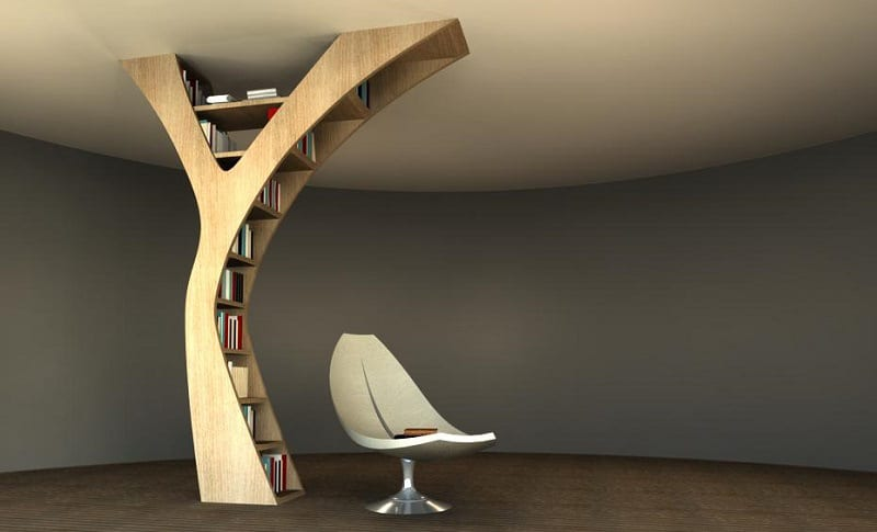 Bookshelves that bring nature in the interior