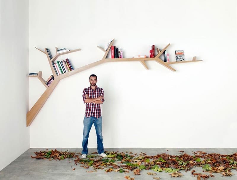 Bookshelves that bring nature in the interior2