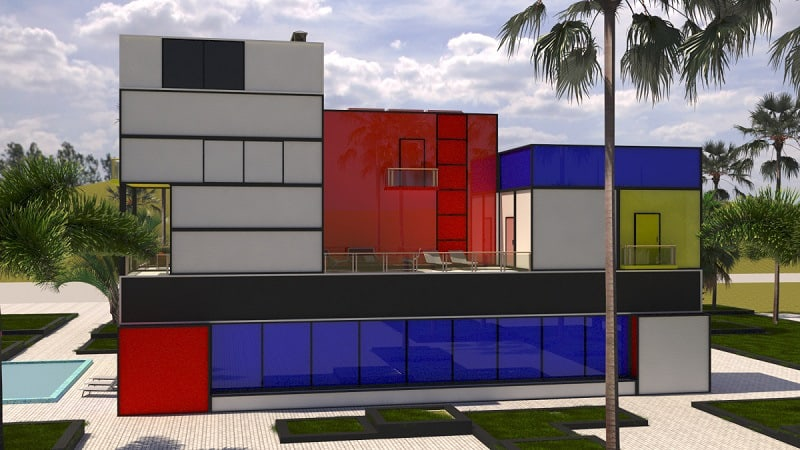 Villa inspired by Modrian's painting3