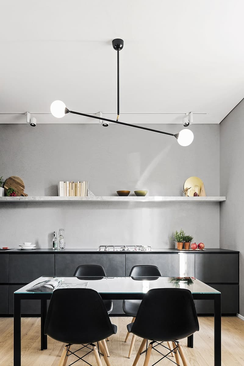 Apartment with a combination of Scandinavian minimalism and Italian elegance3