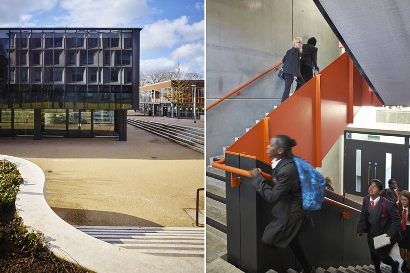 Secondary school with contemporary design in London10