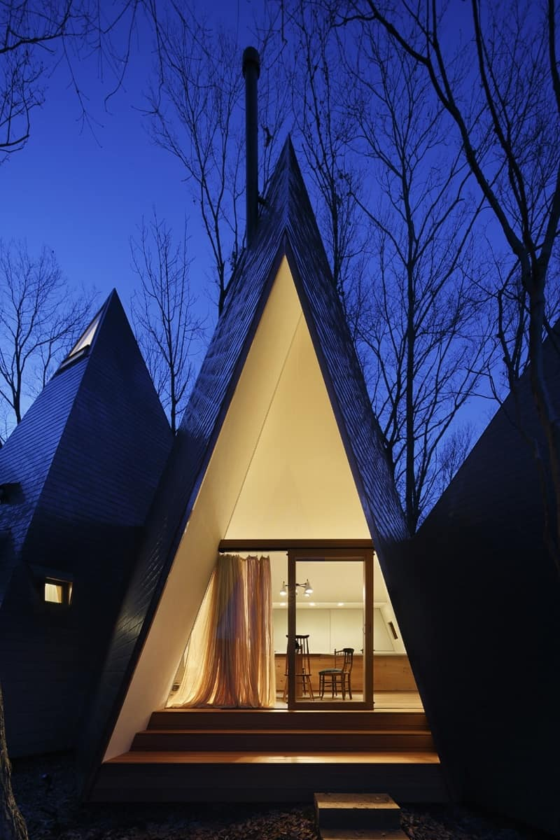 Amazing tepee-shaped house in Japan2
