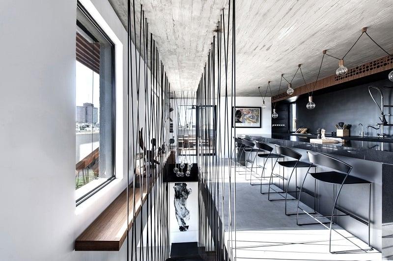 Elegant duplex with practical modular furniture