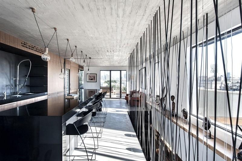 Elegant duplex with practical modular furniture`1