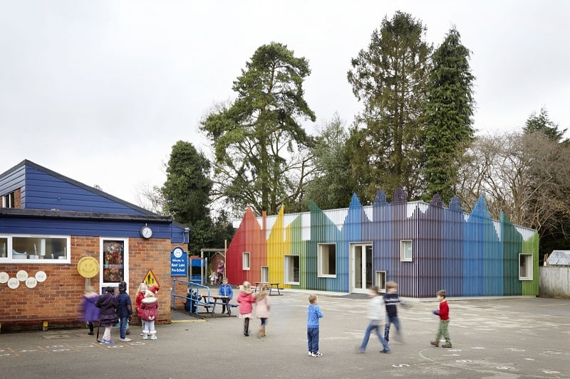 Colorful kindergarten in England