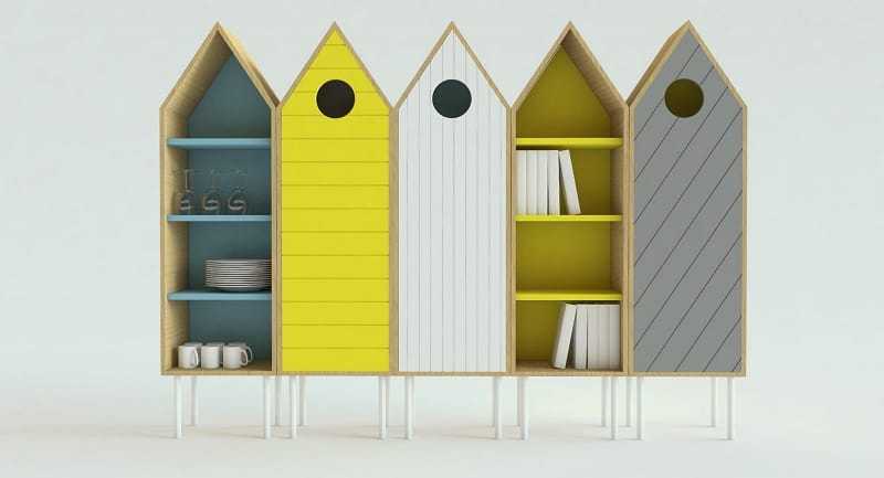Cute sideboard inspired by the wooden beach cabins1