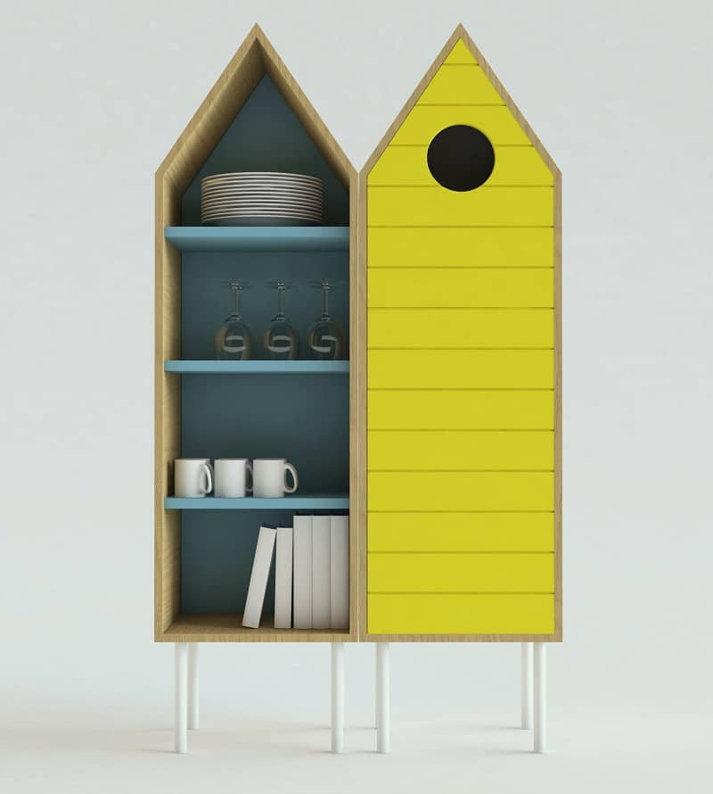 Cute sideboard inspired by the wooden beach cabins2