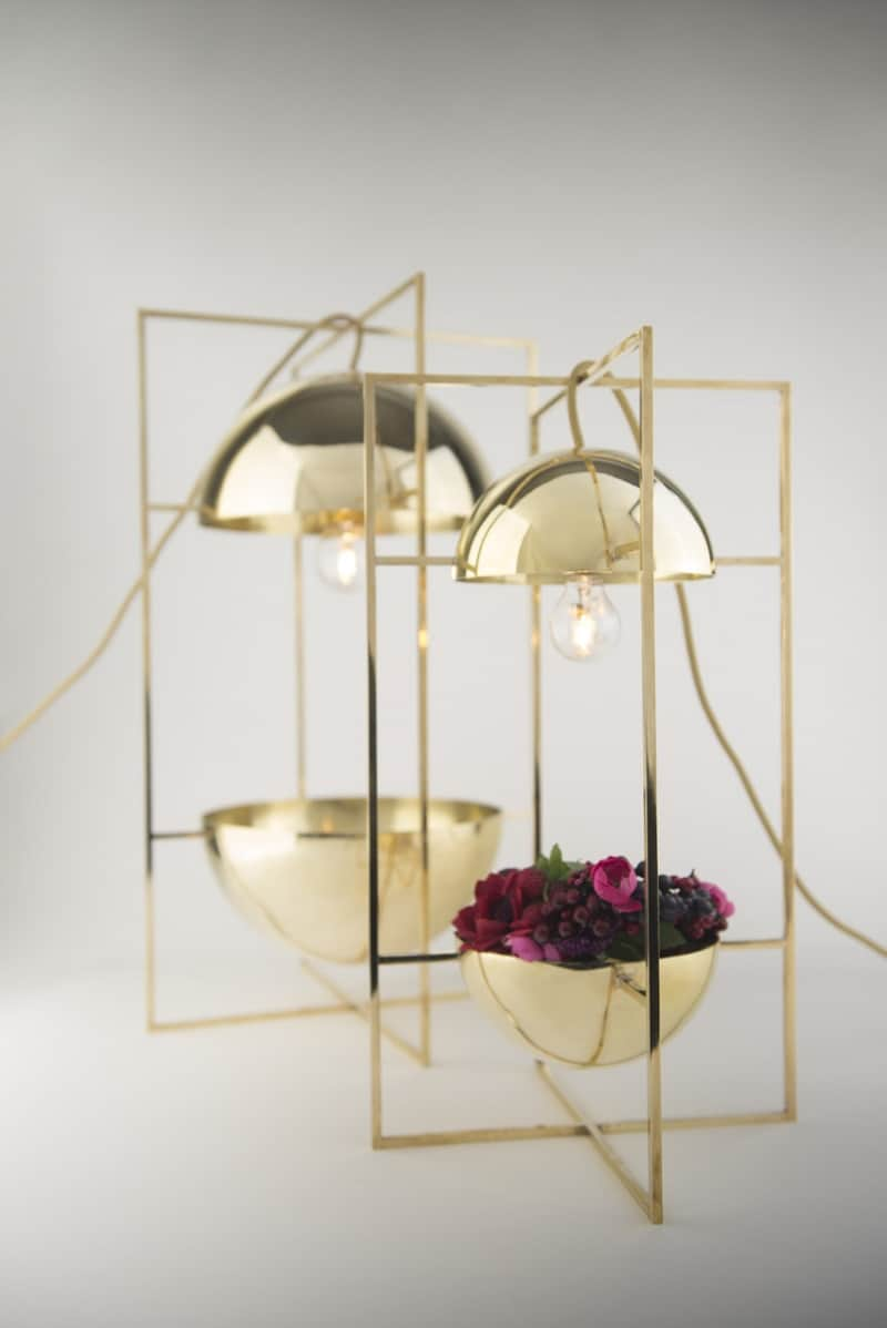 Delicate decorative light and bowl for modern interiors