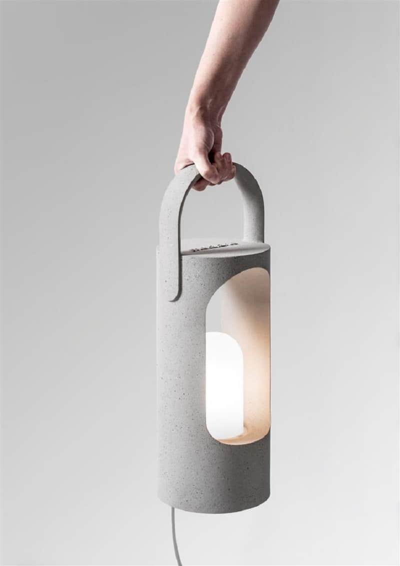 Decorative lamps made of a new composite material