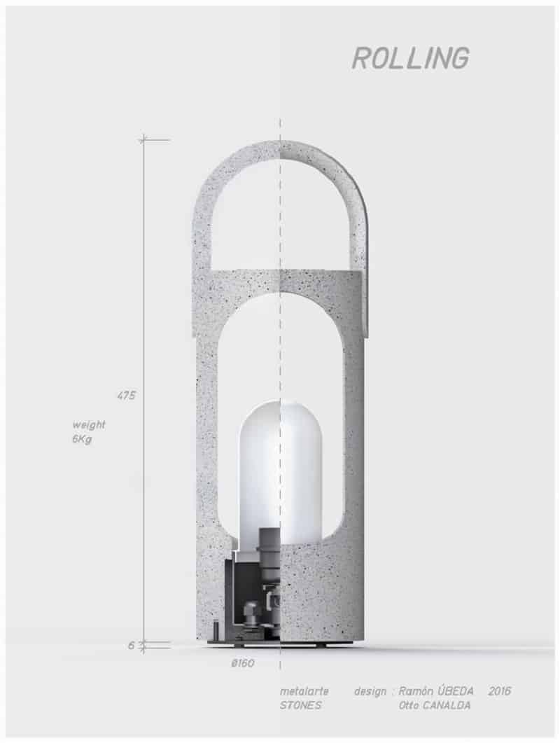 Decorative lamps made of a new composite material4