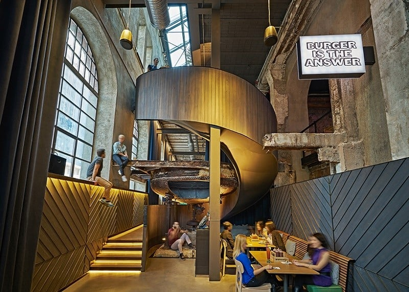 Old brewery in Istanbul transformed into an urban relaxed restaurant