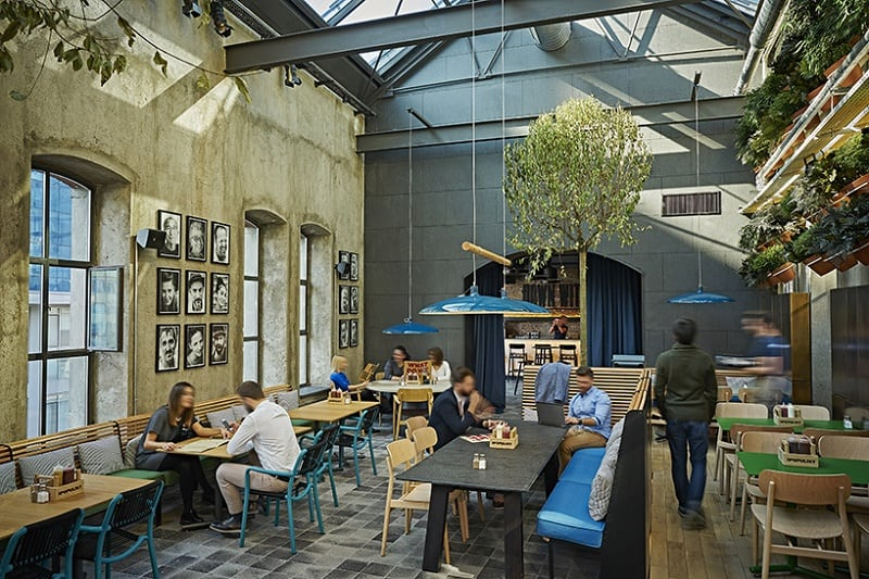 Old brewery in Istanbul transformed into an urban relaxed restaurant4