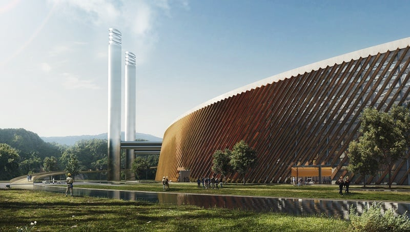 Schmidt Hammer Lassen Architects will design the biggest factory for processing waste into electricity2