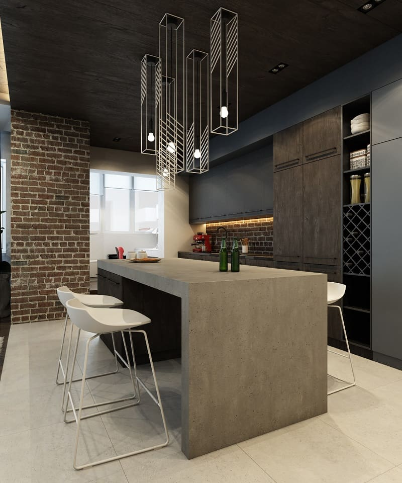 Sophisticated interior in industrial style3