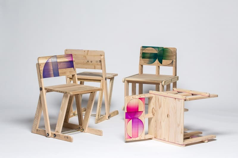 Wooden pallets transformed into vibrant designer chairs1