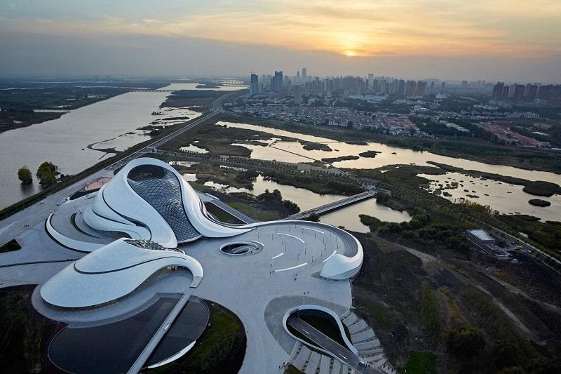Harbin Opera House - futuristic architectural landmark in China4