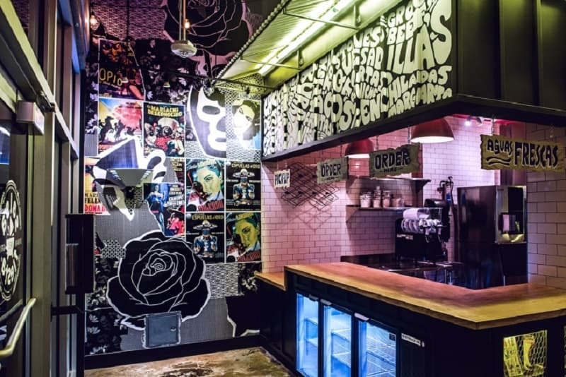 Restaurant interior inspired by the urban Mexican culture