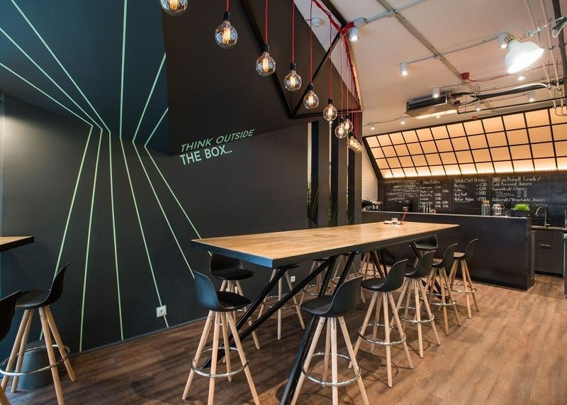 Coworking space with vibrant youthful energy in Budapest