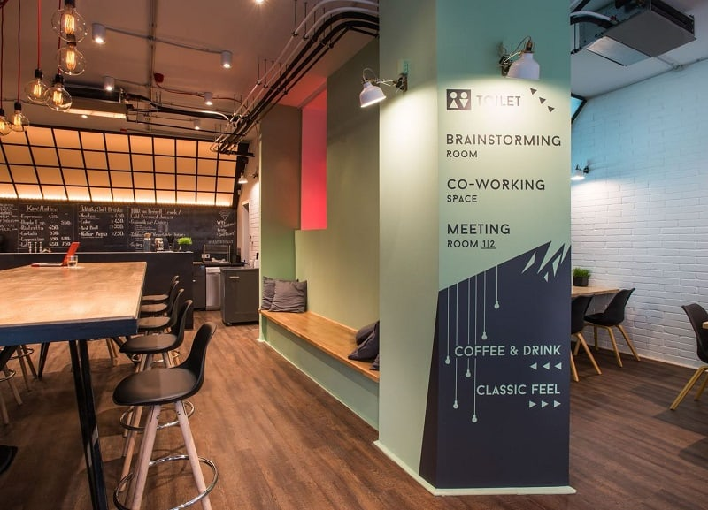 Coworking space with vibrant youthful energy in Budapest2