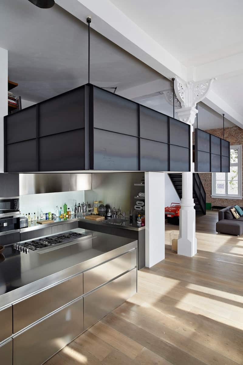 Spacious apartment in industrial style2