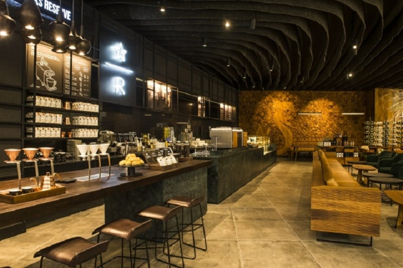 Starbucks with an interior inspired by local arts in Johannesburg1