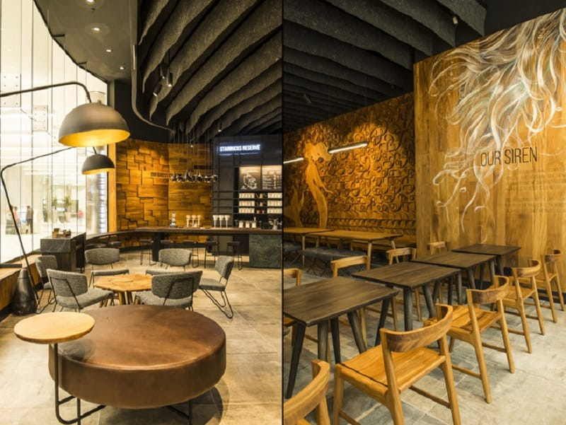 Starbucks with an interior inspired by local arts in Johannesburg2