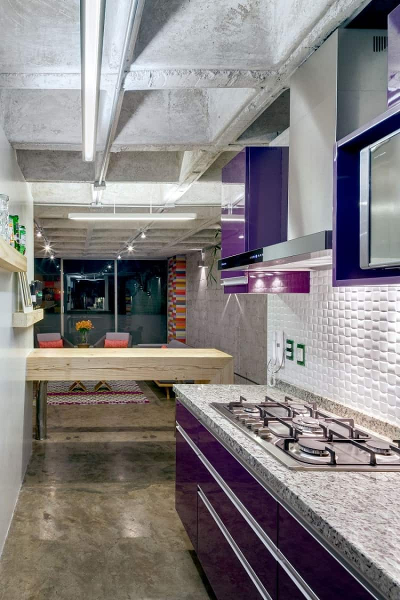 Apartment in electric industrial style in Mexico City5