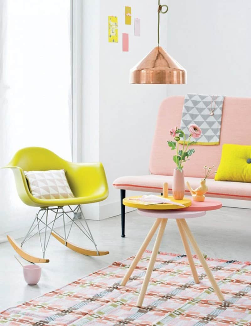Ideas for interior and decor in pastel tones